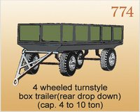 4 Wheeled Turnstyle Box Trailer