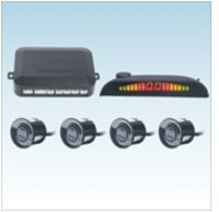 4 Sensors System 12v Led Display Indicator Parking Car Reverse Radar Kit
