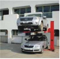 Single-Post Cantilevered Double Parking Lifts