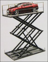 Double Stage Scissor Car Platform