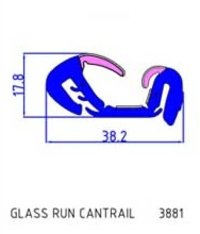 Glass Run Cantrail (3881)