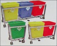 Stainless Steel Waste Segregation Trolleys
