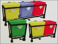 Mild Steel Waste Segregation Trolleys