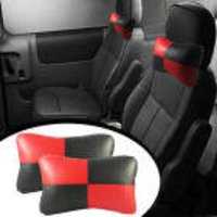 Speedwav Designer Car Seat Neck Cushion Pillow - Red And Black Colour