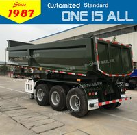 D-One U Shape Dump Tipper Truck Semi Trailer