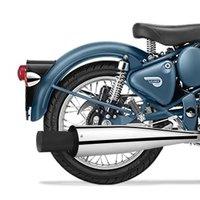 Black Tip Bike Exhaust For Royal Enfield